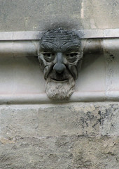 Made of stone (shaggy359) Tags: old portrait man face statue stone beard nose cathedral stonework devon exeter bulbous