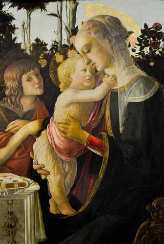 Sandro Botticelli - Virgin and Child with the Infant Saint John the Baptist
