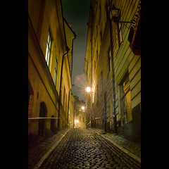 Old Town Stockholm Today (Mikael Jeney) Tags: street night stockholm colorphoto oldtownstockholm foveonsensor mikaeljeney sigmadp2s mikaeljenei