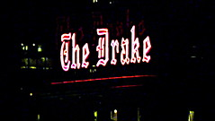 Sir Drake (Vness Lane) Tags: city urban signs chicago night lights hotel cityscape nightscape michiganave busy nightlight glowing urbanism hdr thedrake chicagonight chicagolights chitecture hdrish sirdrake