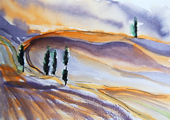 tuscany 2 (looseart2011) Tags: light landscape sketchbook toskana watercolourjournaling looseartbook