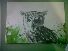 Owl (Gaby Perdomo Valladares) Tags: art pencil watercolor arte drawing guatemala lapiz owl acuarela dibujo technique pencildrawing buho owldrawing animaldrawing pencilandwatercolor lapizyacuarela