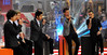 Harry Styles, Niall Horan, Zayn Malik, Louis Tomlinson, Liam Payne 'One Direction' performing live on the 'Today' show in New York City New York, USA