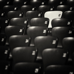 Beijing -  (. Jianwei .) Tags: light bw white black blur seat odd 02 highlight birdsnest beijng a55 allbutone kemily