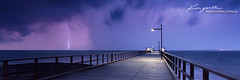 Woody Point Storm ([ Kane ]) Tags: storm wet rain pier woody australia brisbane qld strike lightning kane supercell woodypoint kanegledhillphotography