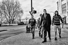 Here come the guys. (Joris_Louwes) Tags: street men modern group streetphotography guys confident