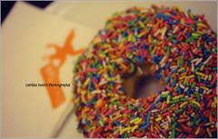 """Rainbow Donut (Lasitha Imali Gunarathne: """"Ayubowan Sri Lanka"""") Tags: food colors canon asia bow donut srilanka ain breadtalksrilanka"""