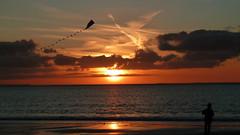 Bin zurck von meiner Lieblings Insel Borkum / I'll be back on my favorite island of Borkum (sabine1955) Tags: sunset beach strand island evening day sonnenuntergang cloudy insel borkum panoramafotogrfico