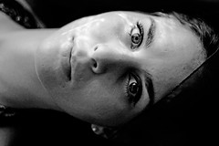 (Cristina Inchustegui Massieu ) Tags: portrait bw classic face closeup mxico female natural retrato feminine naturallight ojos portraiture simple paulinapeniche