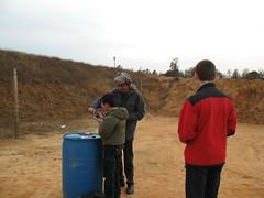 IMG_1971 - Muzzle (computermedicnc) Tags: boy man gun shoot outdoor guns shooting load range participant instructor unload firearm reload