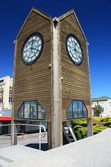 Greymouth Clock tower (Albert Freeman) Tags: travel newzealand bluesky clocktower southisland 2012 greymouth