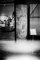 pillar - light leak (ChrisPerriman) Tags: blackandwhite film museum newcastle gallery pattern gateshead lightleak shipley konicac35