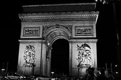 Arc de Triomphe (thedonkeylasher) Tags: blackandwhite paris france arcdetriomphe