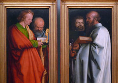 Dürer, The Four Apostles, upper sections