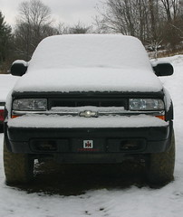 Snowfall photo of the day 11/25/2012 (maddstephens) Tags: snow black fall chevrolet truck first chevy 2012 photooftheday zr2