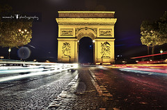 light me up..Paris (PNike (Prashanth Naik..back after ages)) Tags: road paris france rain architecture night de lights nikon europe arc triumph arcdetriumph cartrails d7000 pnike