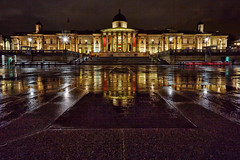 The National Gallery At Night (mark_mullen) Tags: uk london water night reflections dark landscape lights nightscape famous trafalgarsquare landmark illuminated westend nationalportraitgallery canon1740f4 greaterlondon canon5dmk3 markmullenphotography