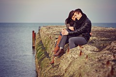M&J (kramerowa) Tags: autumn love beach couple balticsea ustka