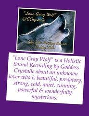 Wolf (Goddess Crystalle) Tags: winter wild cold love frozen wolf magick venus wind crystal song magic goddess silk freezing windy independent mysterious lone bleak strength wilderness lover icy aggressive independence predator psalms desolate powerful graywolf wolves enchanted silky spells redwolf territorial songlyrics whitewolf spellbound mothergoddess arcticwolf likesilk winterwolf crystalle holisticsound spellworker lovesonglyrics supremegoddess goddesscrystalletm crystallemagicksm crystallemagicsm likesilkhealingsounds goddesscrystalle likesilkhealingsoundstm gcrystalle lonegraywolf