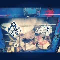 (croissantthief) Tags: seattle streetart graffiti stickerart graf stickers slap ack slaps slaptag seattlegraffiti cansr groetesk