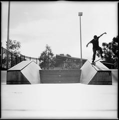 Alex Ollie Over Noseblunt (stephen_levas) Tags: california camera film alex toy san skateboarding kodak doug trix machine diego cm jordan hasselblad 400 taylor hype skater 500 gordo pawn loyal