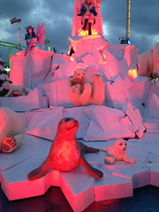 Hyde Park (rijerse) Tags: park winter sculpture detail london art work artwork artistic awesome bears great fine shapes sculptuur queen elf hyde seal foam form iceberg polar shape wonderland throne intricate sculpting theming foamsculpture