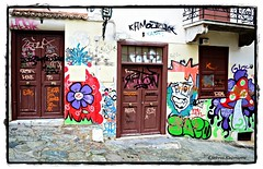 Graffiti colors (Eleanna Kounoupa (Melissa)) Tags: colors graffiti doors athens greece plaka