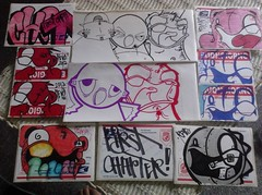 Trade from First chapter! Love the hand drawns. Thanks for getting down on the collabs. (V0ID_UN0) Tags: street blue art austin graffiti dallas stencil sticker paint texas paste wheat vinyl houston first spray pack collab prints slap usps void chapter trade thermal tops bombing revo