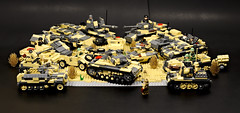 Rommel's Review1 (Florida Shoooter) Tags: germany lego armor ww2 dak afrikakorps