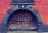 Old Door Way (noowb) Tags: old red brick store fuji streetphotography hampshire doorway fujifilm southampton 18mm oldstore postprocessing ipad 27mm xpro1 ipadapp phototoaster