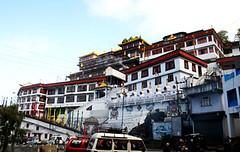 A Buddhist  Monastry in Darjeeling, West Bengal, India ($Pe(trUm) Tags: above sea india west asia mt religion buddhism level ft bengal darjeeling facing kanchanjunga 6400 lordbuddha