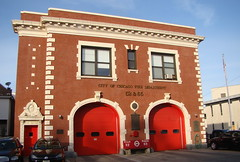 One of the Chicago Fire station flimed in the movie Back Draft. (Chicago Rail Head) Tags: architecture firestation firehouse preservation backdraft cfd seeninmovie truck52 flimstar eng65starin