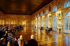 Roayl Performance at Catherine Palace in St. Petersburg (TOTORORO.RORO) Tags: city travel light sunset music color reflection tourism architecture stpetersburg lens mirror golden hall chair europe european elizabeth artistic russia sony performance palace tourist catherine dome translucent classical saintpetersburg alpha baroque russian popular visitor f28 hdr 18thcentury slt ssm rococo attractions pushkin peterthegreat tsars a55 tsarskoyeselo thecatherinepalace 1650mm latebaroque  sal1650
