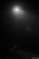 Day 301: Foggy (andywilsonsphotos) Tags: bw andy fog night wilson 365 365pic andywilsonsphotos andywilsonsphotoscom