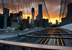 City on Fire (DPGold Photos) Tags: nyc ny newyork skyline brooklyn cityscape manhattan brooklynbridge
