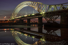 Night Light (Liz Phillips Photography) Tags: longexposure nightphotography bridge light night lowlight nightshoot nightsky mersey runcorn merseyside widnes rivermersey