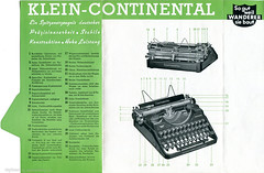 Klein-Continental p.2 (shordzi) Tags: typewriter vintage ad continental advertisement brochure schreibmaschine facsimile broschre kleincontinental
