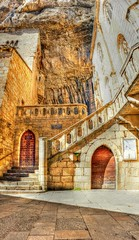 Rocamadour (FR) fairytale place on Earth (KatFib) Tags: door city france church stairs buildings rocks sacral hdr rocamadour midipyrnes ringexcellence sonynex5 besteverdigitalphotography