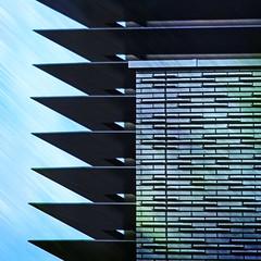 Edge (tanakawho) Tags: building texture geometric wall architecture tile point exterior angle edge squareformat layer postproduction treatment  tanakawho