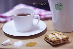 (strawberrygraph) Tags: morning food bahrain nice nikon tea sugar honey manama nikon85mm braekfast