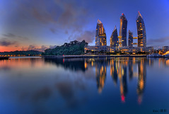 Reflections @Keppel Bay (Ken Goh thanks for 2 Million views) Tags: keppel marina boats architeture blure hour night water reflection landscape cityscape hdr lighting colorful colors pentax k1 full frame sigma 1020