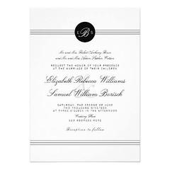 (Elegant Chic Black White Monogram Wedding Invite) #Black, #BlackWhite, #Chic, #Clasic, #Classy, #Clean, #Crisp, #Design, #Elegant, #Elements, #Initials, #Married, #Modern, #Monogram, #Monogrammed, #Movable, #MrAndMrs, #New, #Stylish, #Trend, #Vertical, # (CustomWeddingInvitations) Tags: elegant chic black white monogram wedding invite blackwhite clasic classy clean crisp design elements initials married modern monogrammed movable mrandmrs new stylish trend vertical weddings is available custom unique invitations store httpcustomweddinginvitationsringscakegownsanniversaryreceptionflowersgiftdressesshoesclothingaccessoriesinvitationsbinauralbeatsbrainwaveentrainmentcomelegantchicblackwhitemonogramweddinginvite weddinginvitation weddinginvitations