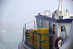 fishing cutter - Fischkutter (Knarfs1) Tags: harbour port hafen schiff nebel dust fog normandie portenbessin france mood fisherman boat ship