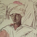 CHASSERIAU Théodore,1846 - Arabes (drawing, dessin, disegno-Louvre RF24410) - Detail 1