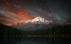 Mt. Shasta Sunset - Explored (PrevailingConditions) Tags: mountains sunset mtshasta snow trees landscape lake siskiyou ca california