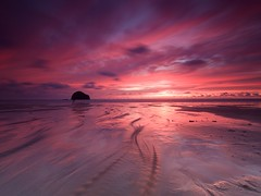 Cornwall (Stephen Walford Photography) Tags: kernow cornwall trebarwithstrand sea coast uk england sunset longexposure sky red clouds travel olympus