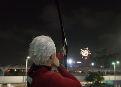 ARcher's Power Shot (UnsignedZero) Tags: california cosplaytype downtowncounty fatestaynight igokeanoscosplay losangelescounty night nightphotography out outdoor outdoors outside outsides time