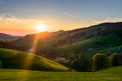 Sunset at St.Maergen (cfaobam) Tags: sunset exposure landschaft landscape color sun europe europa nature national geographic cfaobam blackforest schwarzwald tal wald deutschland germany canon sonnenuntergang magiclight