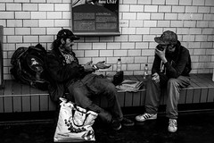 Don't Smoke Crack! (Lens a Lot) Tags: paris | 2016 voigtlnder skoparex 35mm f34 1963 5 blades iris dkl mount f4 black white street photographie drug addict metro gate subway tube underground station vintage manual west germany german prime fixed lens