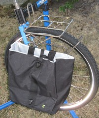 Pelican rack + lowrider mockup, with pannier attached (Tysasi) Tags: rack69 rack71 pelican boxdogbikes winterbicycles rando rack lowrider rack0069 rack0071